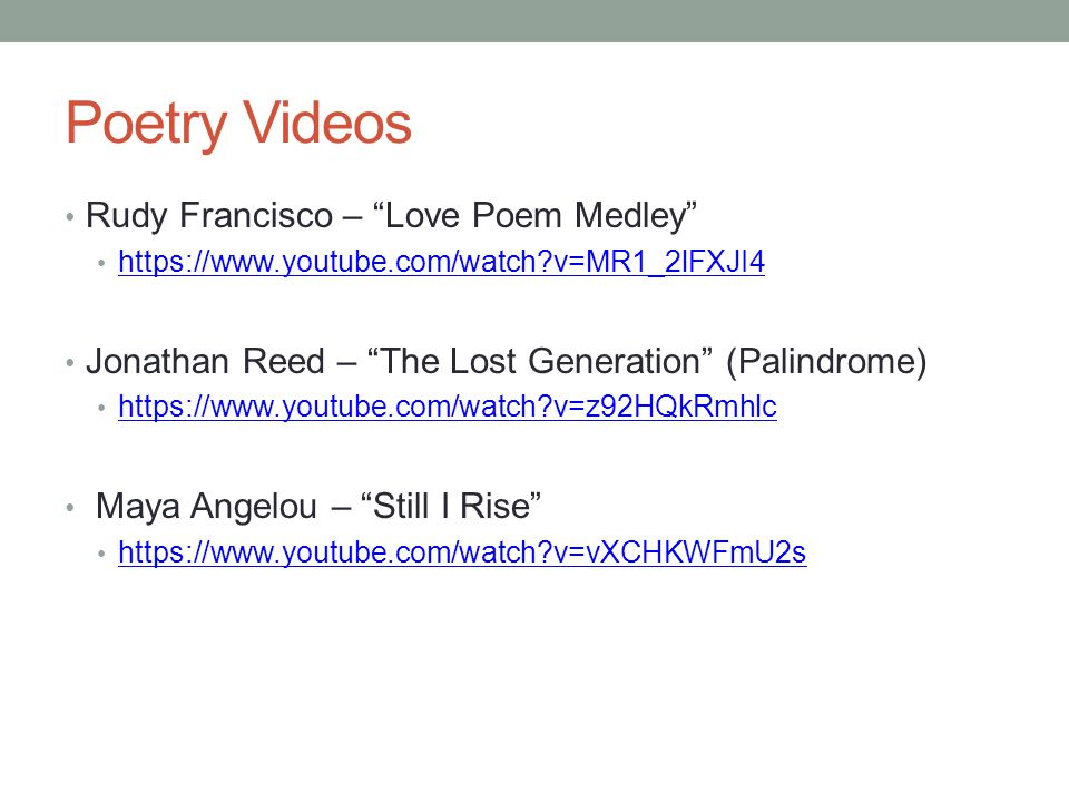 Poetry Terms Mrs Withers English Ppt Video Online Download