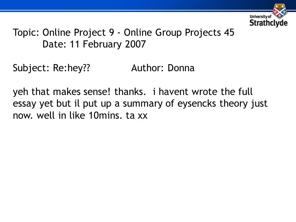 From Monologue To Dialogue Enhancing Feedback In Learning  Ppt  Topic Online Project   Online Group Projects