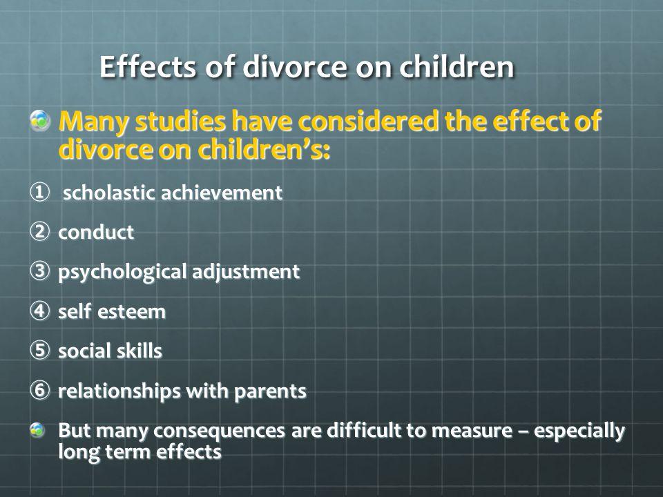 divorce  family sociology   ppt video online download effects of divorce on children