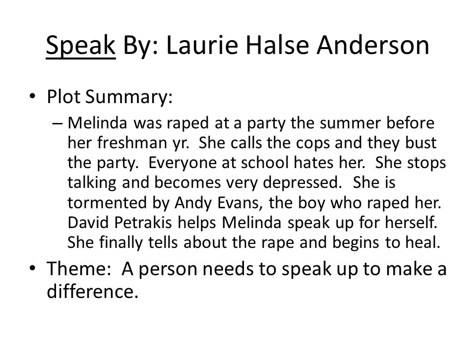 Speak Study Guide Laurie Halse Anderson Speak Study Guide By Laurie Halse Anderson By Speakerunspoken  Tpt Thesis Statement Essay Example also Online Report Writing Service  Example Of A Thesis Essay