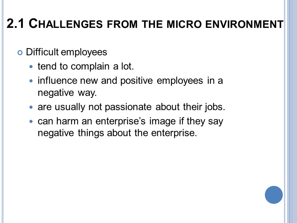 challenges of the business environment