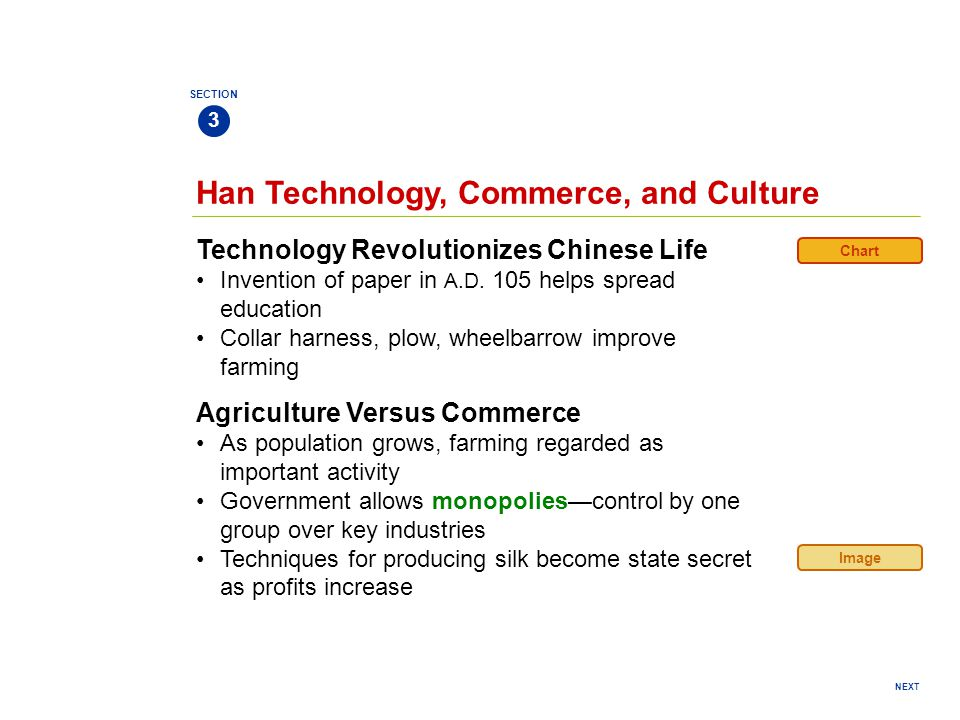 Han Technology, Commerce, and Culture