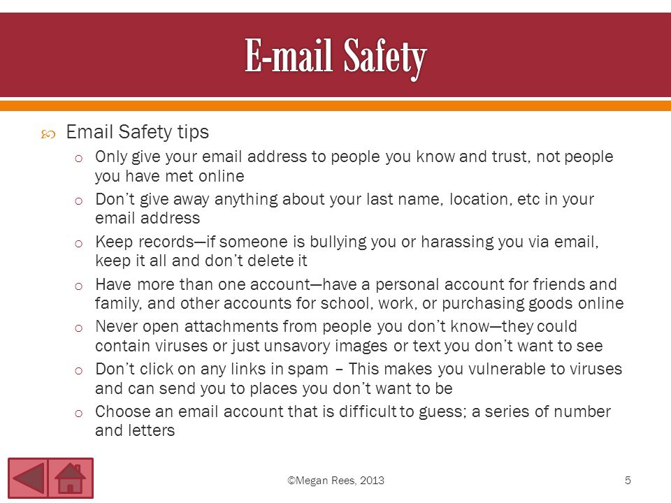Email safety tips