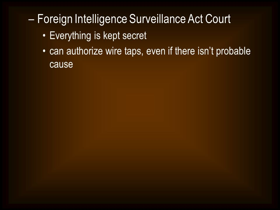 Foreign Intelligence Surveillance Act Court
