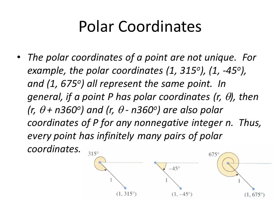 Polar Coordinates Objective: To look at a different way to plot