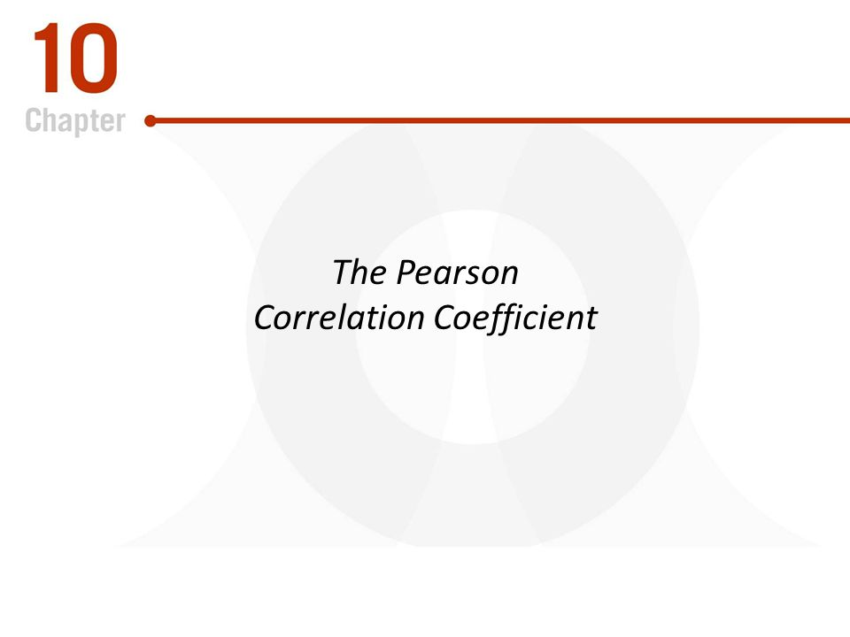 The Pearson Correlation Coefficient