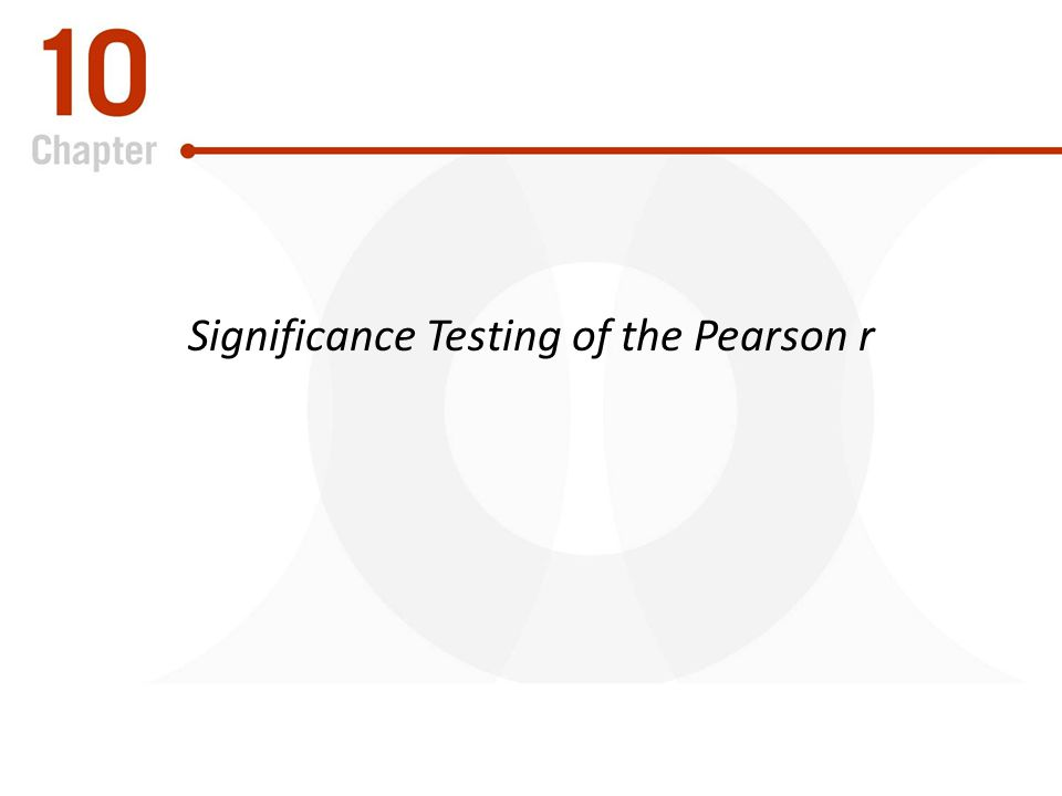 Significance Testing of the Pearson r