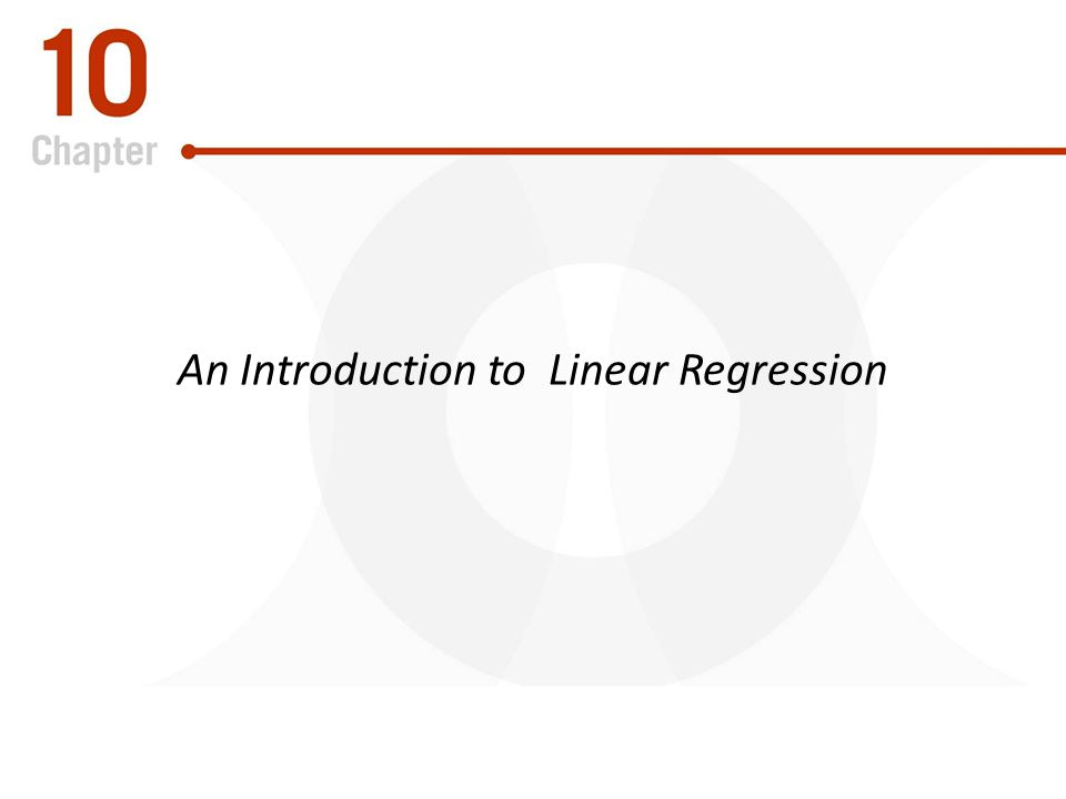 An Introduction to Linear Regression