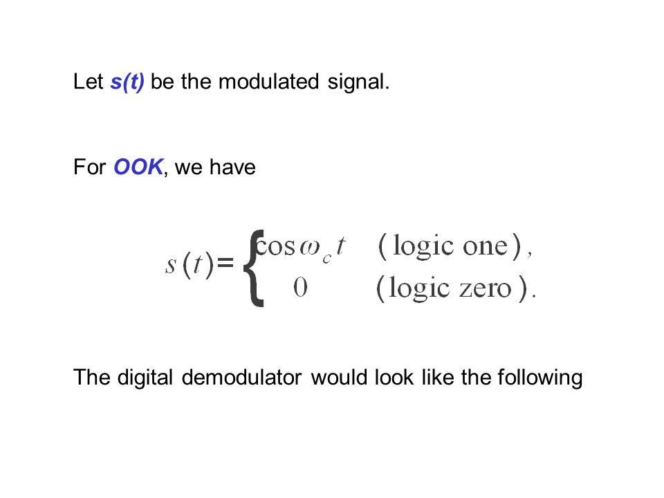 Let s(t) be the modulated signal.