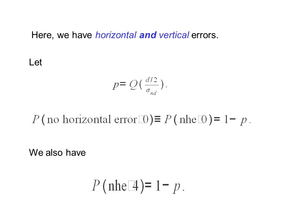 Here, we have horizontal and vertical errors.