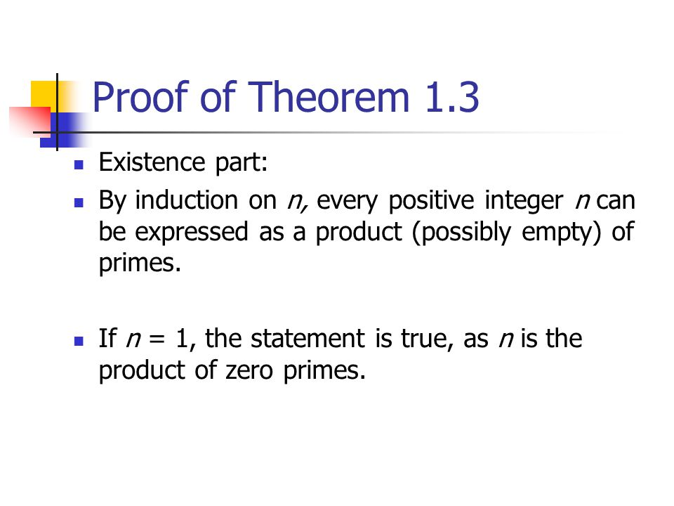 Proof of Theorem 1.3 Existence part: