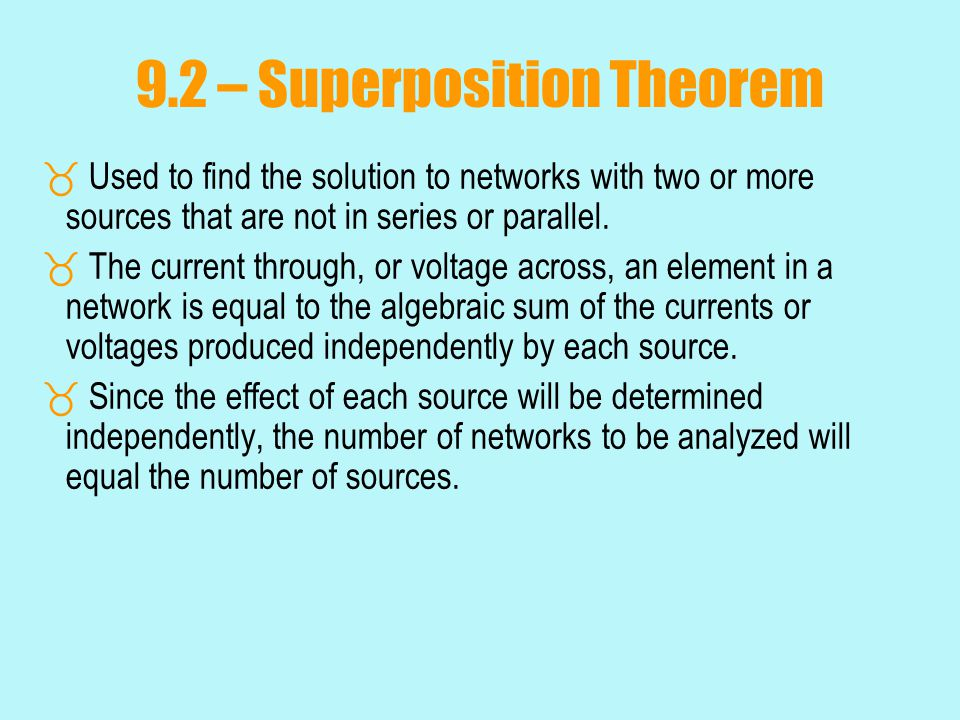 9.2 – Superposition Theorem