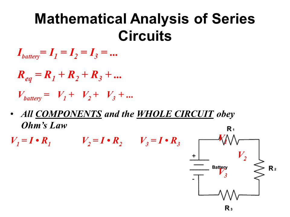 Mathematical Analysis of Series Circuits
