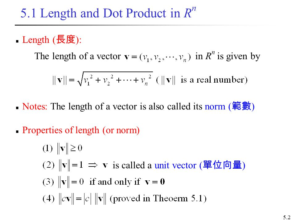 chapter 5 inner product spaces - ppt download  slideplayer