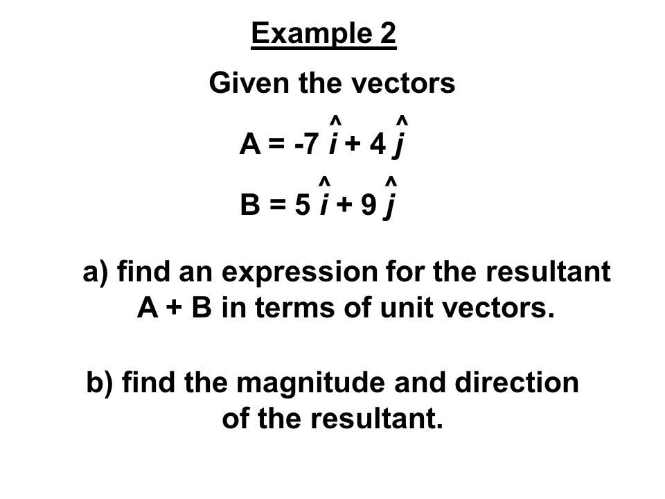 b) find the magnitude and direction of the resultant.