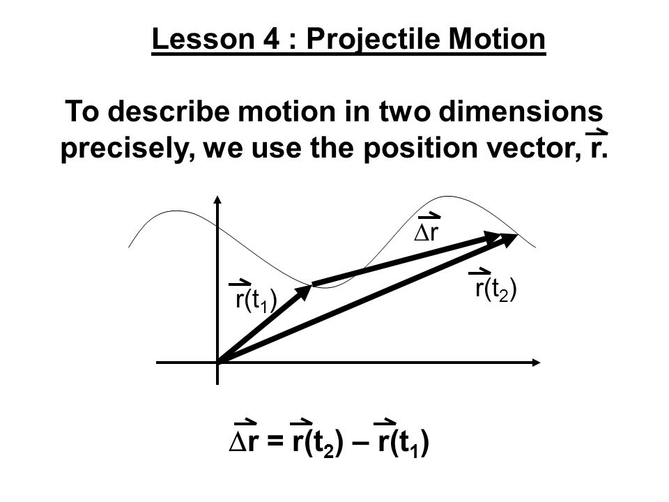 Lesson 4 : Projectile Motion