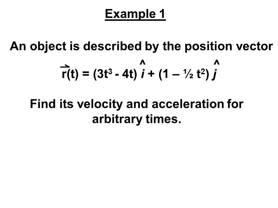 An object is described by the position vector