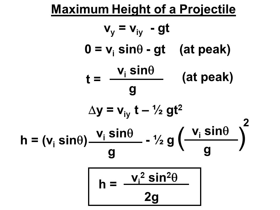 Maximum Height of a Projectile