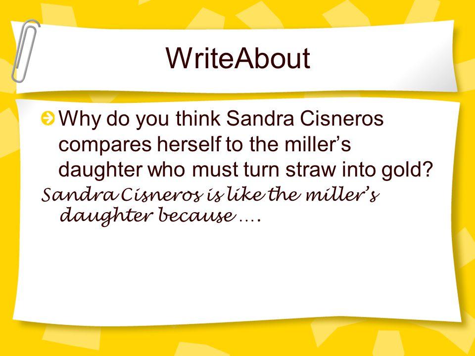 straw into gold sandra cisneros