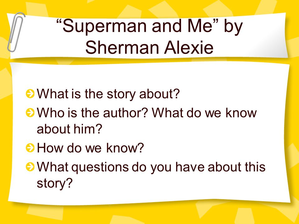 superman and me discussion questions