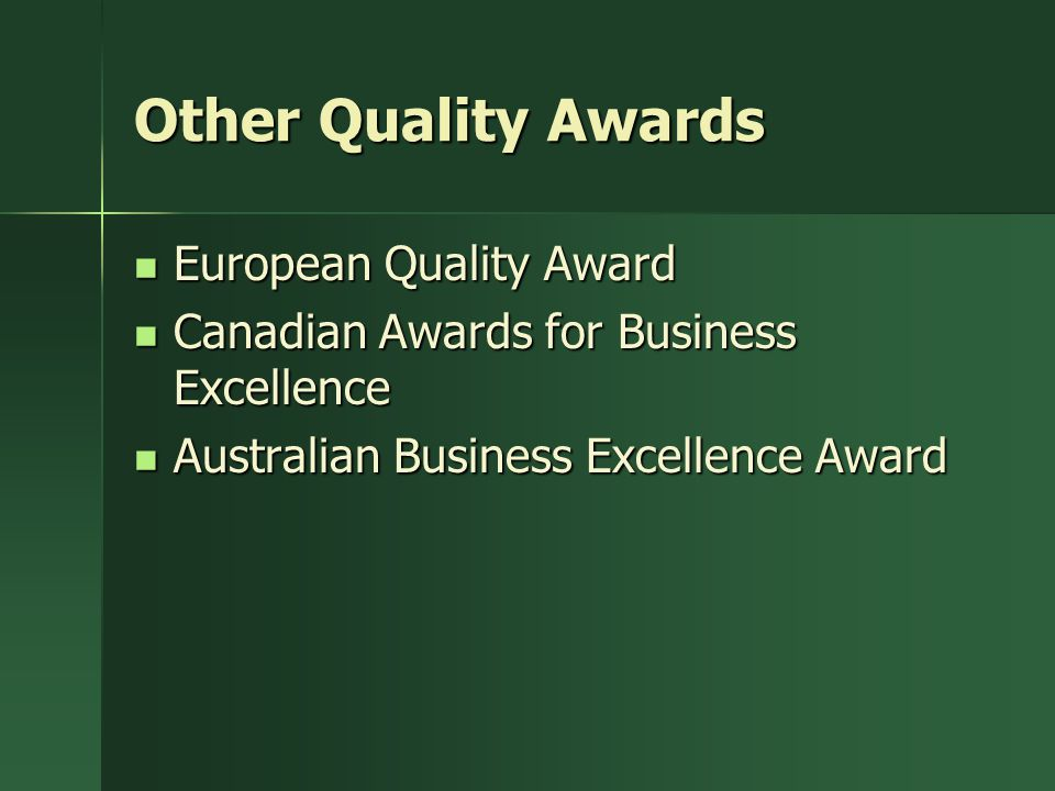 Other Quality Awards European Quality Award
