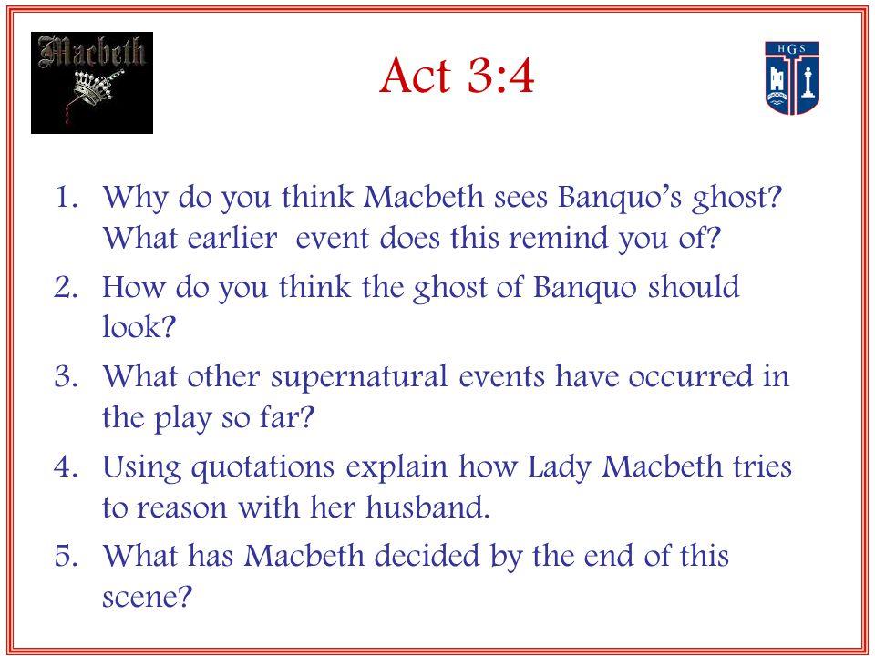supernatural events in macbeth