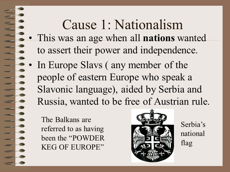 how nationalism caused ww1