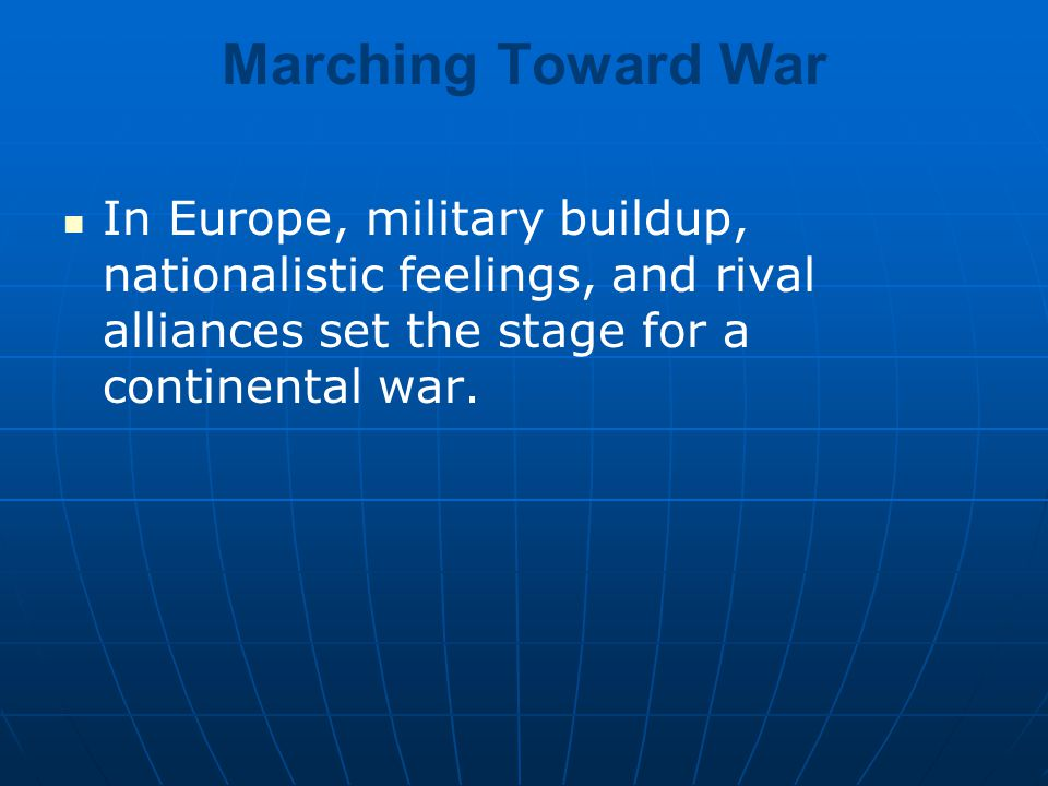 the stage is set for war chapter 13 section ppt video online download rh slideplayer com First World War World War 1 Soldiers