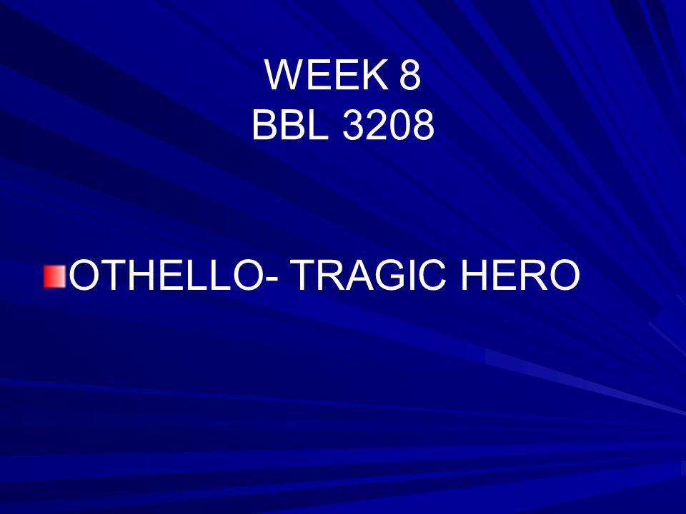 othello as a tragedy of evil