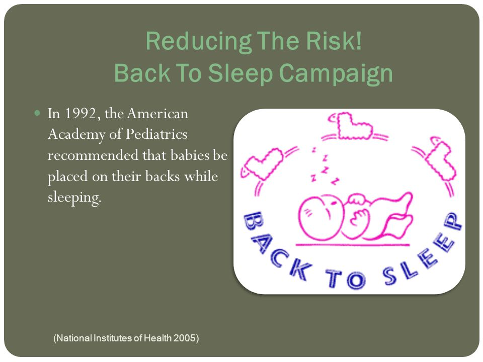 Reducing The Risk! Back To Sleep Campaign