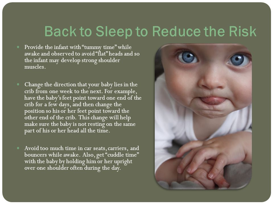 Back to Sleep to Reduce the Risk
