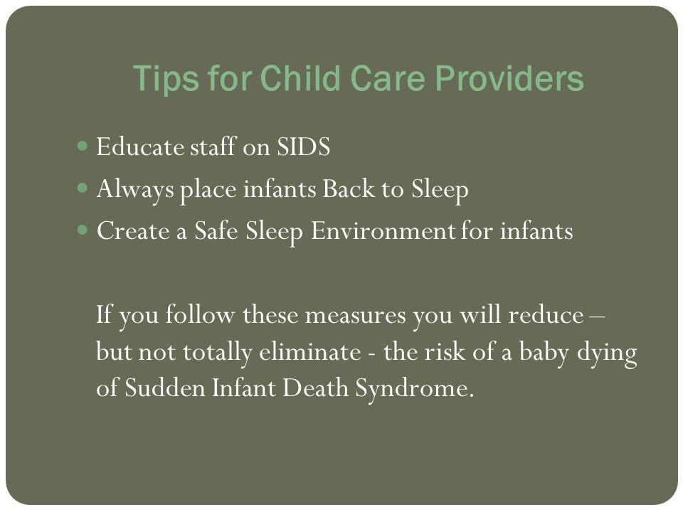 Tips for Child Care Providers