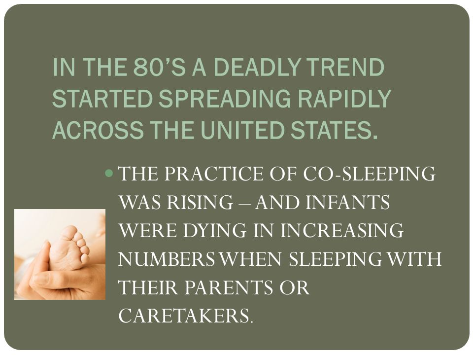 IN THE 80'S A DEADLY TREND STARTED SPREADING RAPIDLY ACROSS THE UNITED STATES.