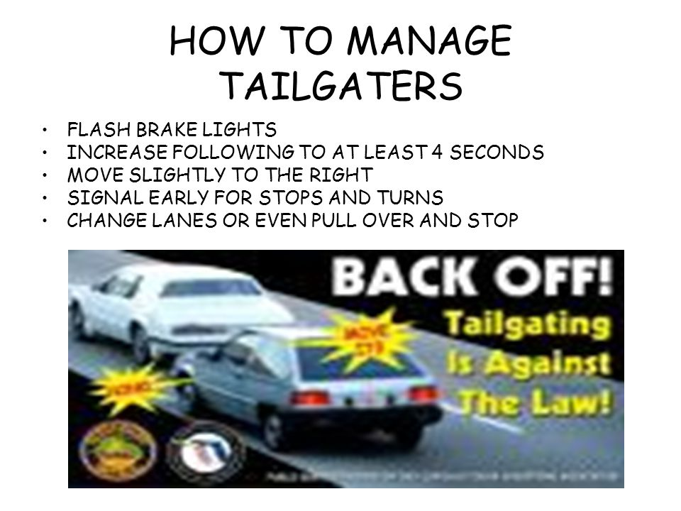 HOW TO MANAGE TAILGATERS