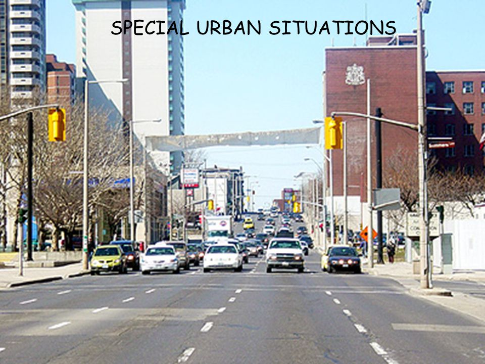 SPECIAL URBAN SITUATIONS