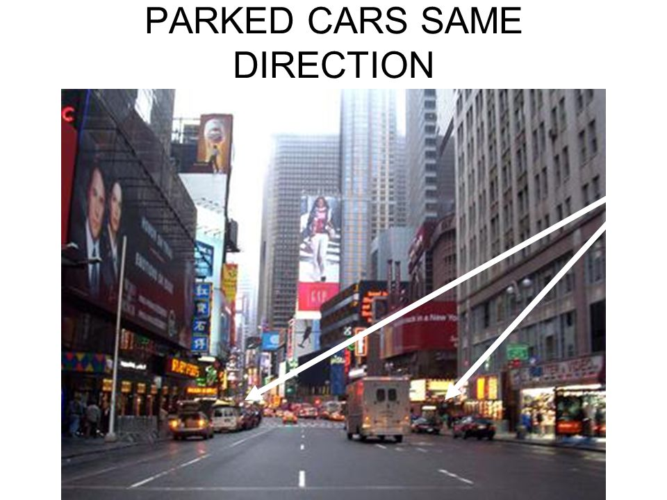 PARKED CARS SAME DIRECTION