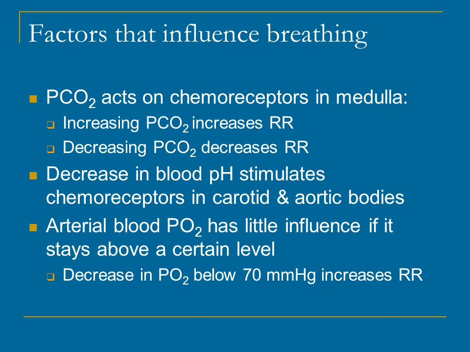 Factors that influence breathing
