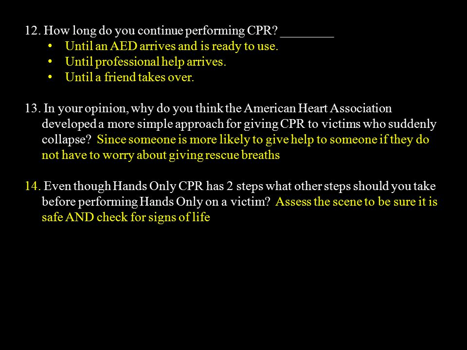 Hands Only Cpr Ppt Download