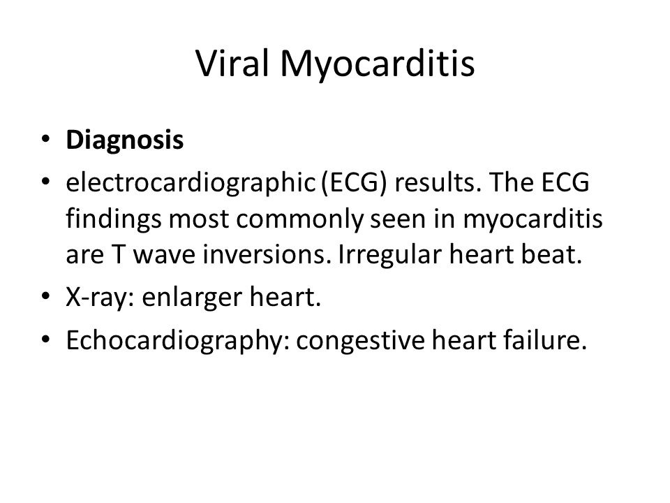 Viral Myocarditis Diagnosis