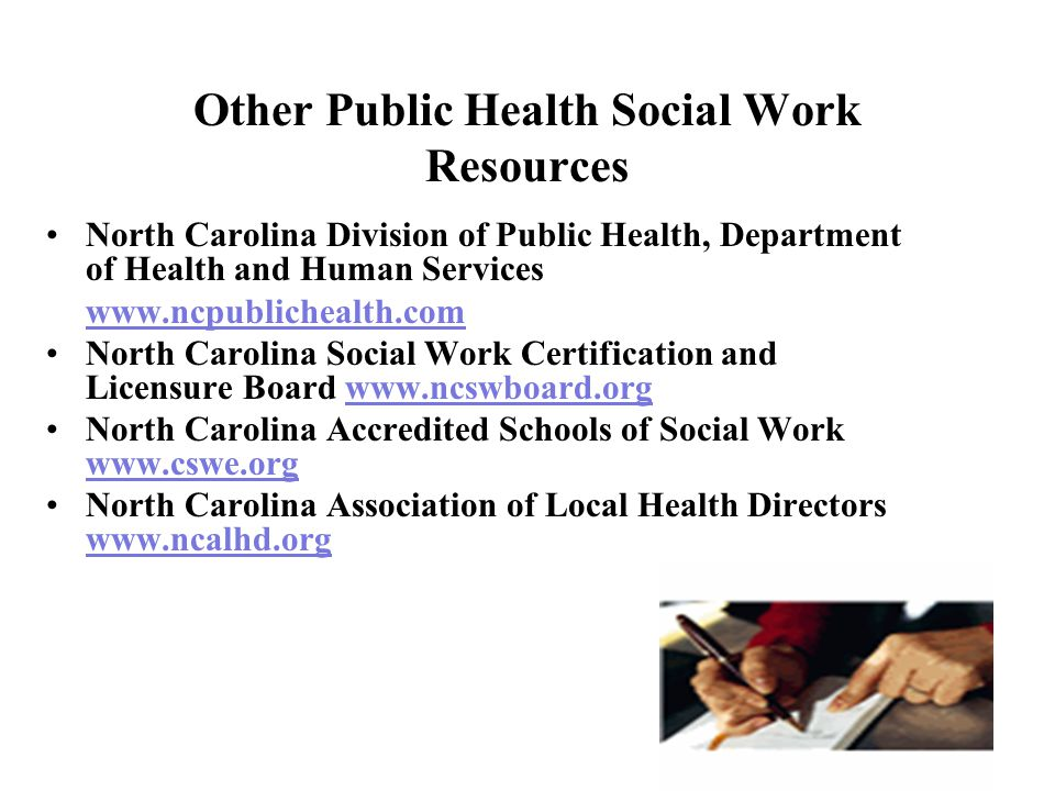 Public Health Social Work in North Carolina - ppt video online download