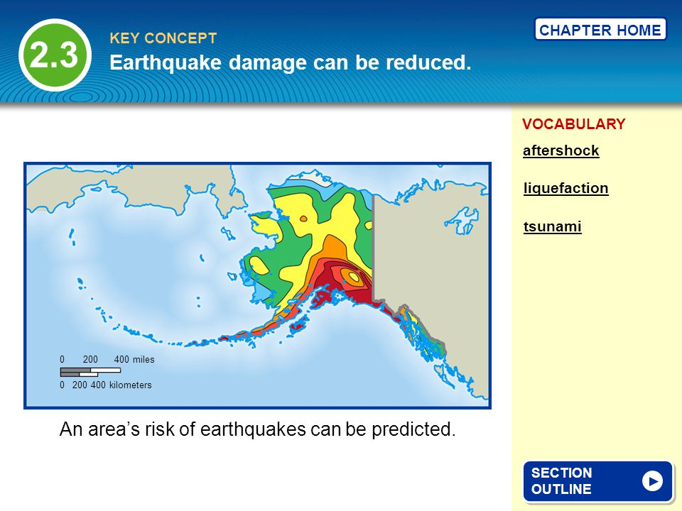 Earthquake damage can be reduced.