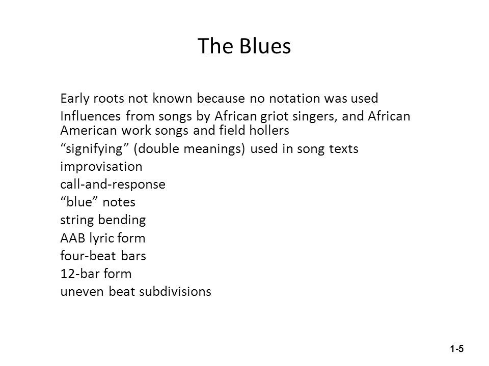 Lyric blues songs lyrics : Chapter 1 – Roots of Rock Music - ppt video online download