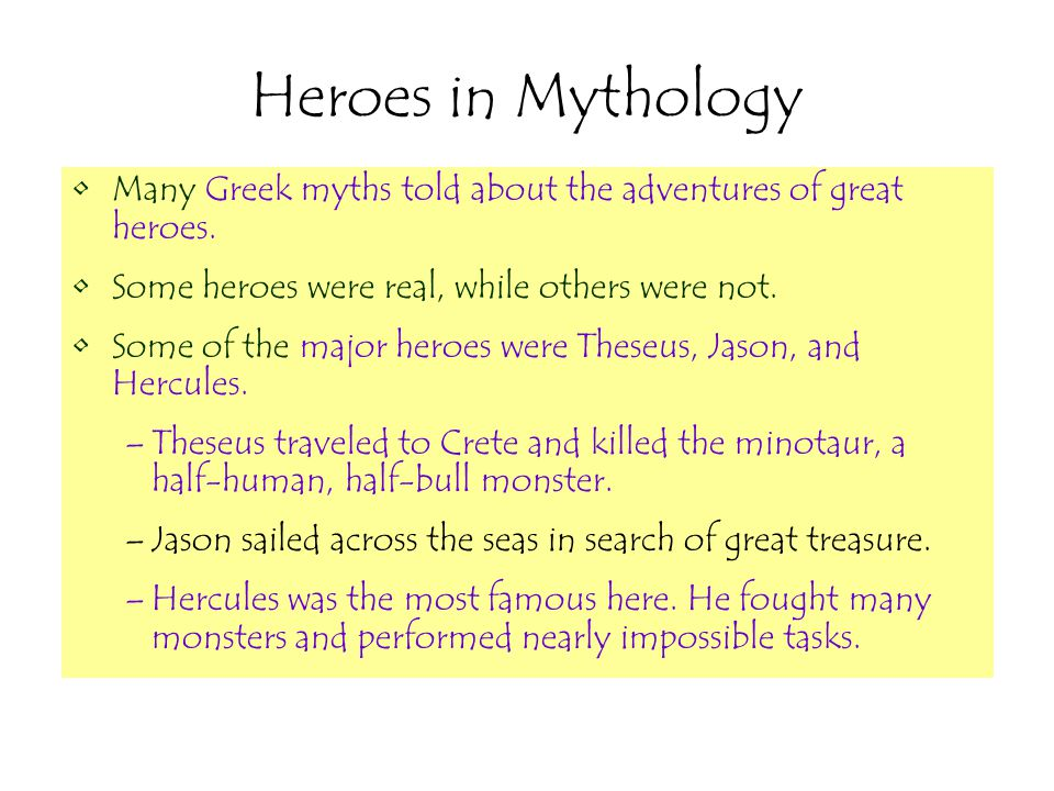 famous mythical heroes