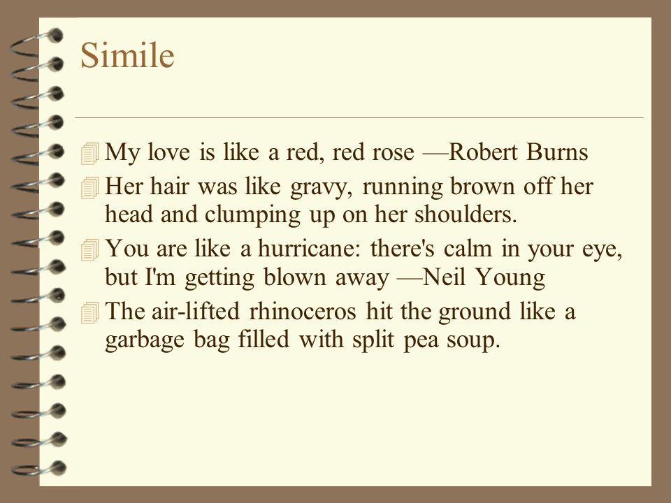 example of simile about love