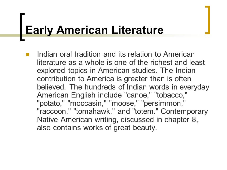 native american writing style