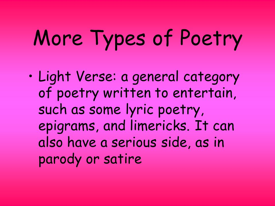 Introduction To Poetry Ppt Download