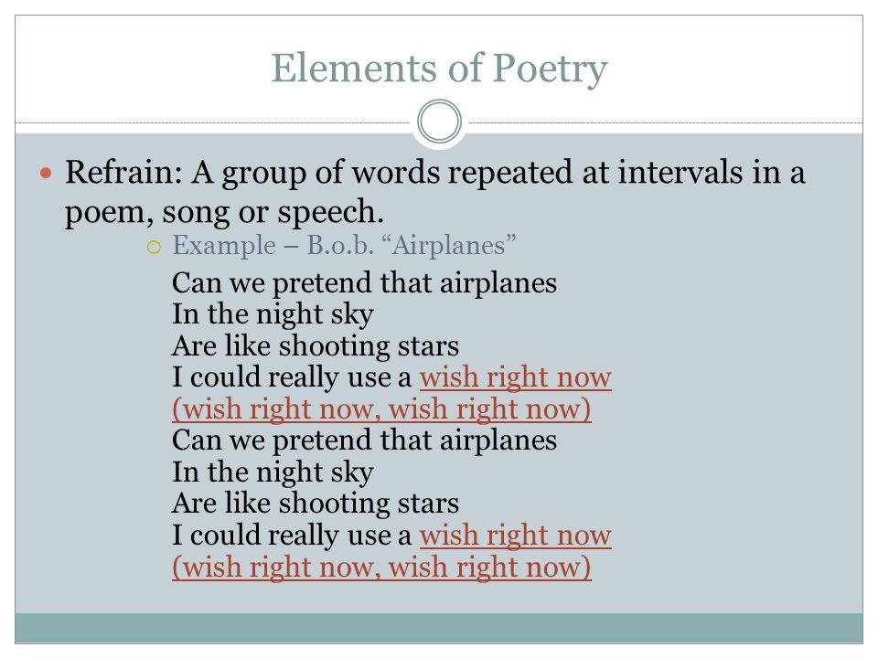 Figures Of Speech Refrain Examples