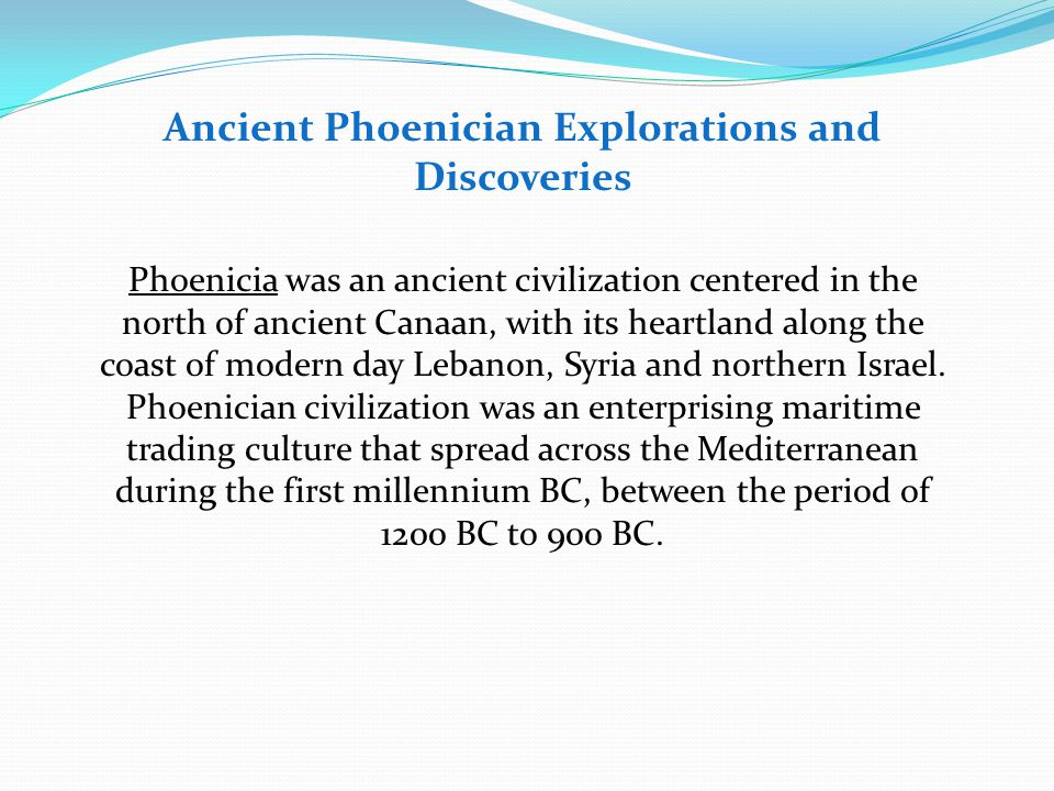 History of ocean exploration and marine sciences ppt video online ancient phoenician explorations and discoveries publicscrutiny Gallery