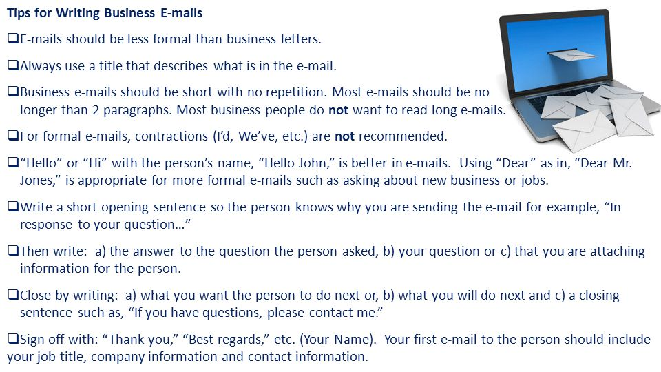 How often do you write business s using english ppt download tips for writing business e mails altavistaventures Choice Image