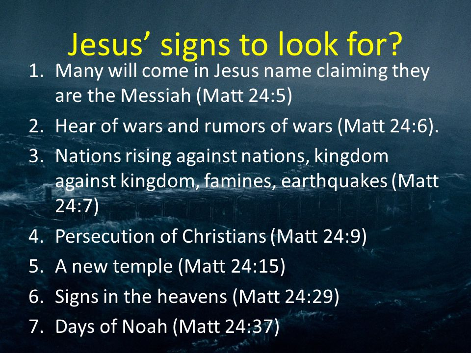 Image result for Jesus signs to look for